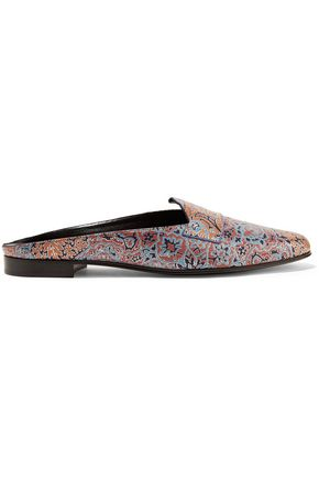 PIERRE HARDY Jacno printed leather slippers