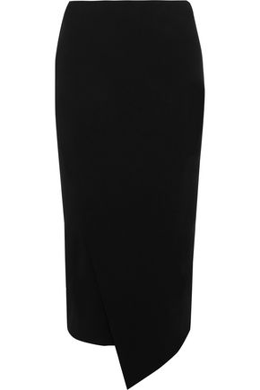 BY MALENE BIRGER Nilanos asymmetric wrap-effect stretch-cady skirt