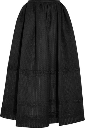 EMILIA WICKSTEAD Maribel embroidered cotton-blend organza midi skirt