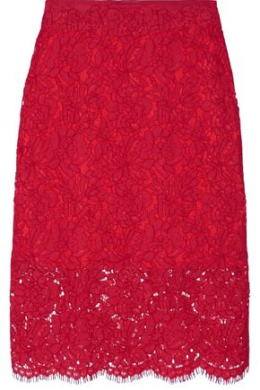 DIANE VON FURSTENBERG Glimmer corded lace pencil skirt