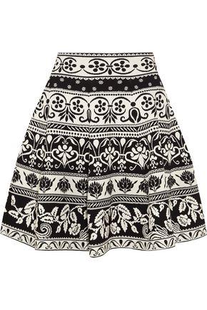 ALEXANDER MCQUEEN Jacquard-knit mini skirt