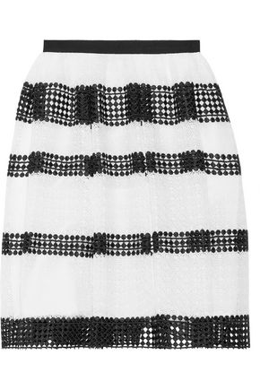 MICHAEL MICHAEL KORS Flared guipure lace skirt