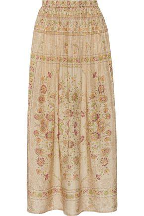 MES DEMOISELLES Polka printed silk maxi skirt