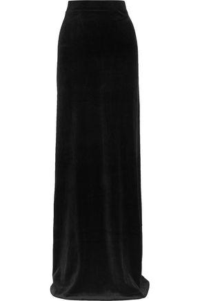 VETEMENTS + Juicy Couture cotton-blend velour maxi skirt