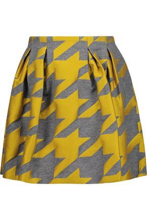 ALICE + OLIVIA Connor houndstooth wool-blend jacquard mini skirt