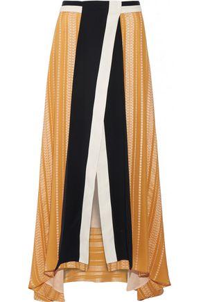 ZEUS + DIONE Anthea crepe-trimmed silk-blend jacquard maxi skirt