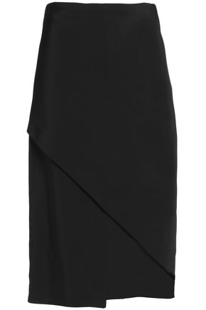ROSETTA GETTY Draped satin maxi skirt