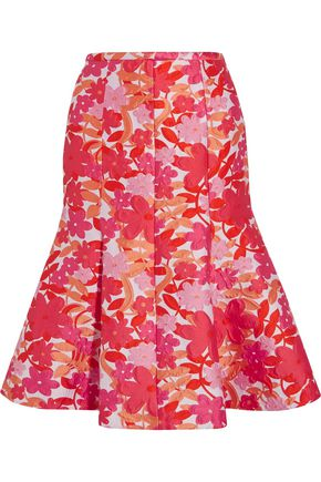MICHAEL KORS COLLECTION Floral-jacquard skirt