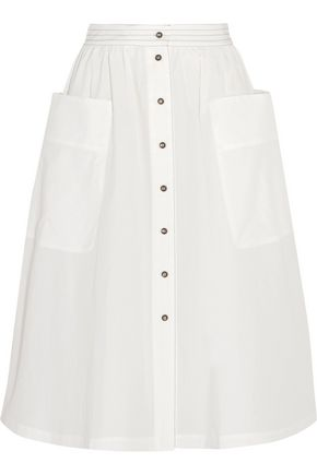 TOMAS MAIER Cotton-poplin midi skirt