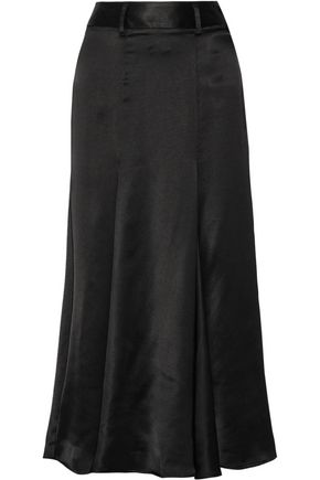BEAUFILLE Aries satin-jacquard midi skirt