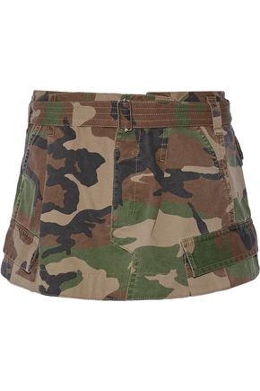 MARC JACOBS Camouflage-print cotton-twill mini skirt