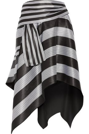 PROENZA SCHOULER Asymmetric striped jacquard skirt