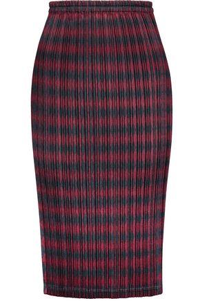 ALEXANDER WANG Printed plissé-satin skirt