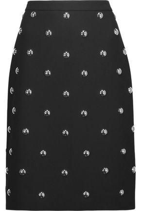 ALEXANDER WANG Studded crepe skirt