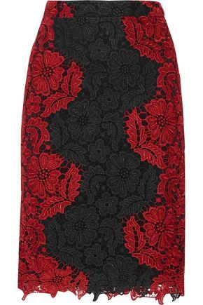 ALICE + OLIVIA Farrel guipure lace skirt