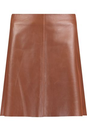 THEORY Irenah leather mini skirt