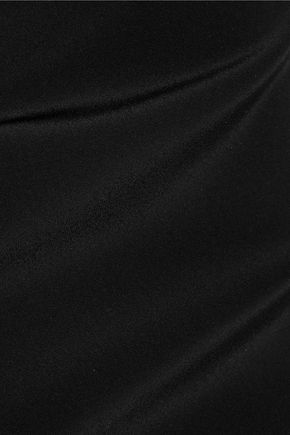 DKNY Crepe and ponte skirt