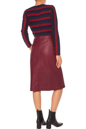 IRIS AND INK Monica leather skirt