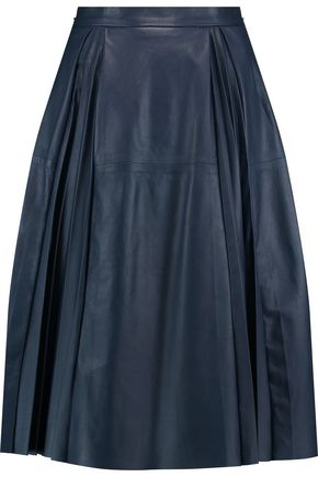 IRIS & INK Cynthia pleated leather skirt