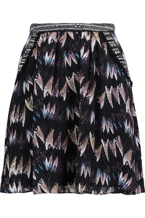 DIANE VON FURSTENBERG Marisa pleated silk-jacquard mini skirt