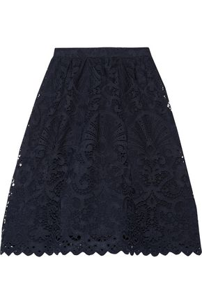 ALICE + OLIVIA Joyce gathered guipure lace skirt