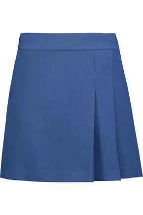 ALICE + OLIVIA Pleated cady mini skirt