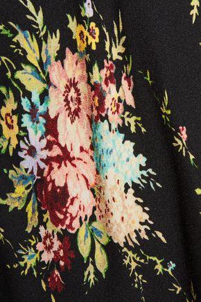 ALICE + OLIVIA Floral-print crepe mini skirt
