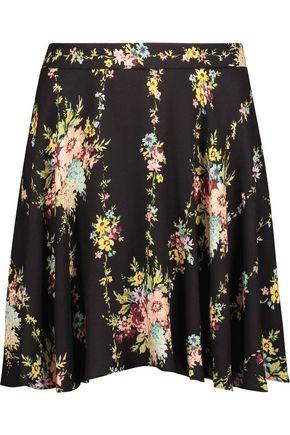 ALICE + OLIVIA Blaise floral-print crepe mini skirt