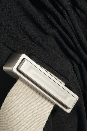 ACNE STUDIOS Kye asymmetric gathered stretch-crepe maxi skirt