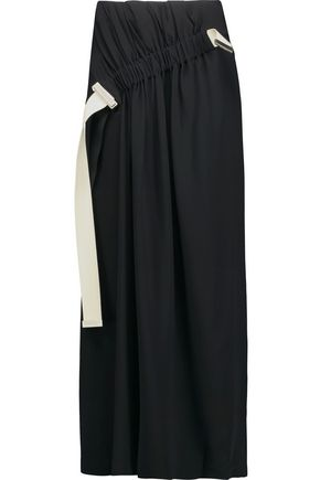 ACNE STUDIOS Kye asymmetric gathered stretch-crepe maxi skirt
