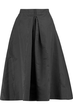 NINA RICCI Pleated silk-shell skirt