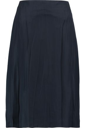 NINA RICCI Pleated satin skirt