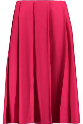 NINA RICCI Pleated wool-blend skirt