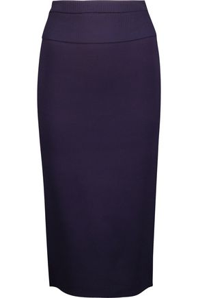 DION LEE Rib-trimmed stretch-knit skirt
