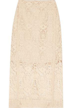 DKNY Flocked lace pencil skirt