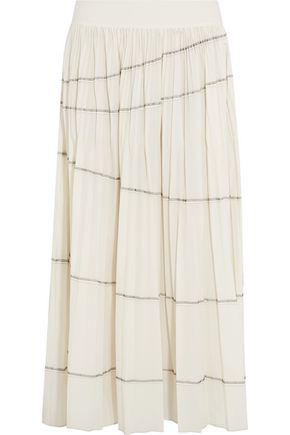 DKNY Pleated shell maxi skirt