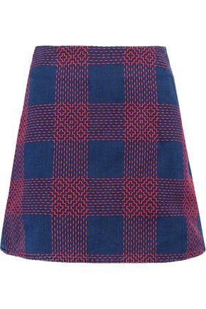 M.I.H JEANS Morro embroidered denim mini skirt