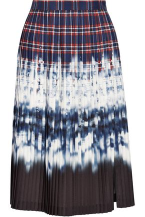 ALTUZARRA Lucile pleated printed satin skirt