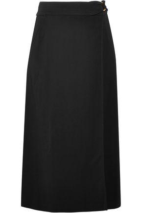 A.L.C. Hedi belted crepe wrap midi skirt