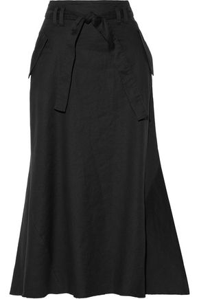 A.L.C. Jean pleated twill midi skirt