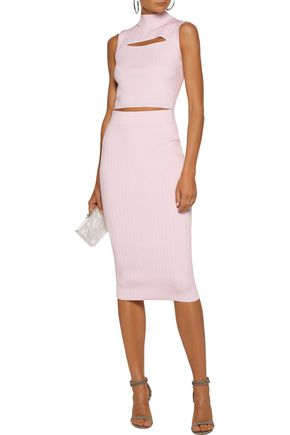 CUSHNIE ET OCHS Ribbed-knit pencil skirt