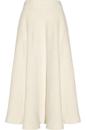 THE ROW Alang linen-burlap skirt