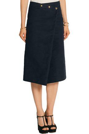 ATLANTIQUE ASCOLI Felted-cotton skirt