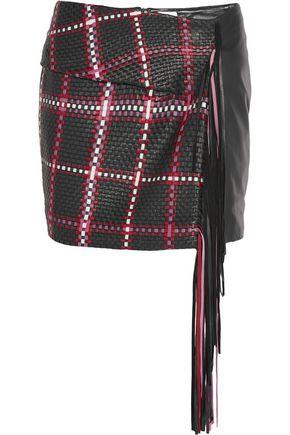 MAGDA BUTRYM Santa Fe fringed woven leather mini skirt