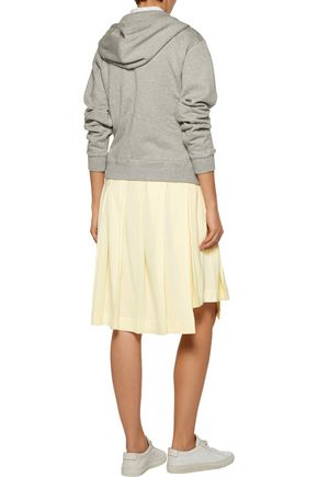 Y-3 + adidas Originals pleated cotton and modal-blend piqué skirt