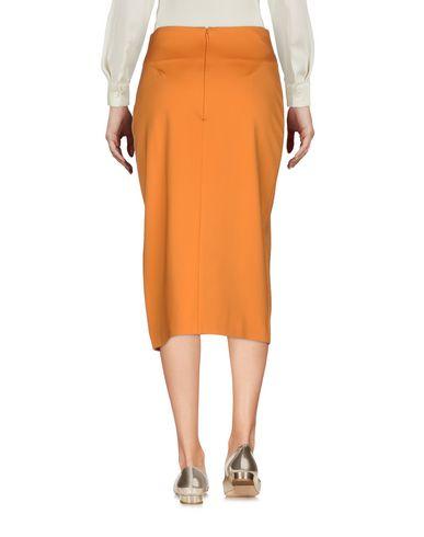 Фото 2 - Юбку длиной 3/4 оранжевого цвета