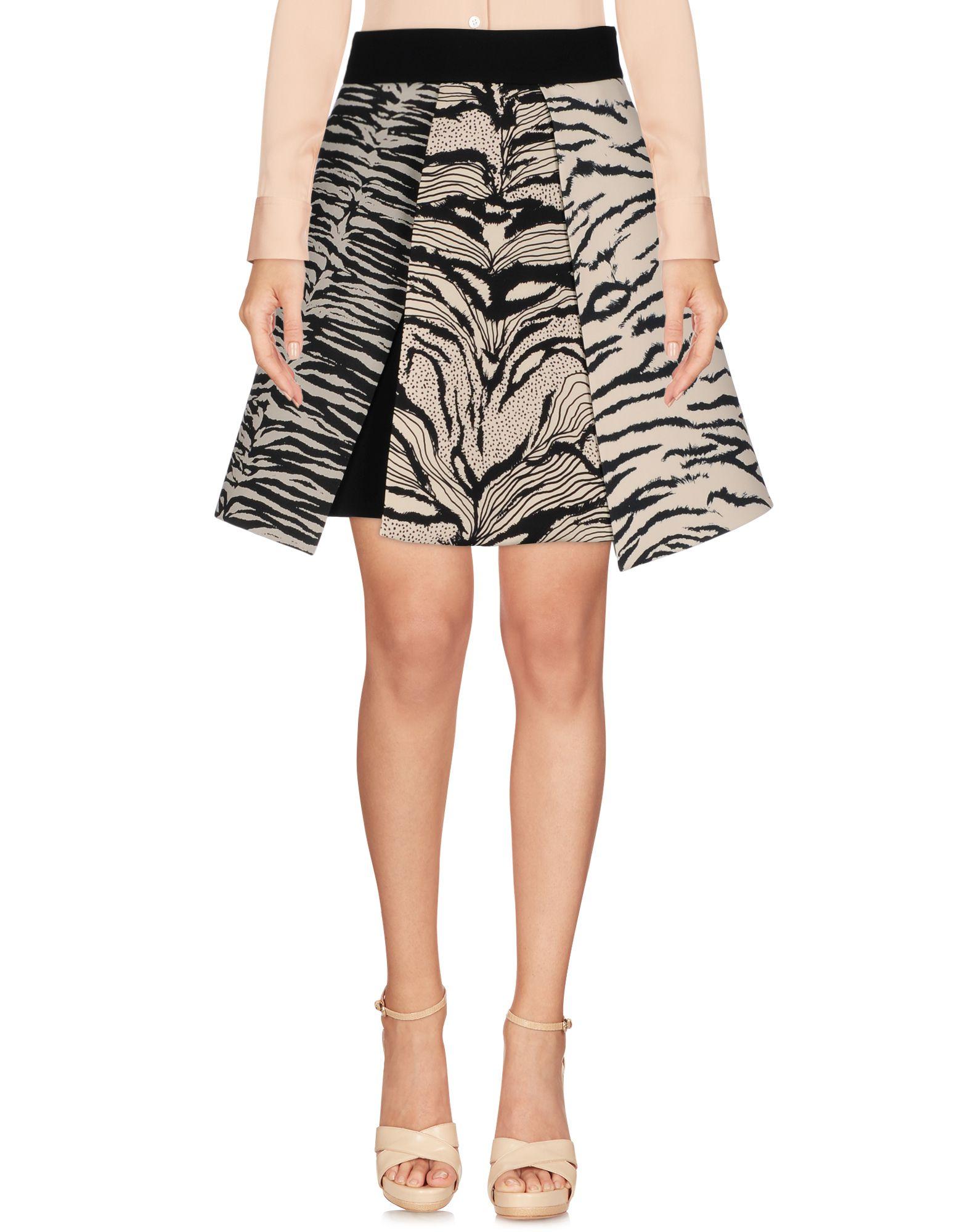 《セール開催中》FAUSTO PUGLISI レディース ひざ丈スカート アイボリー 40 レーヨン 98% / ポリウレタン 2% / シルク