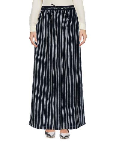 Фото - Длинная юбка темно-синего цвета
