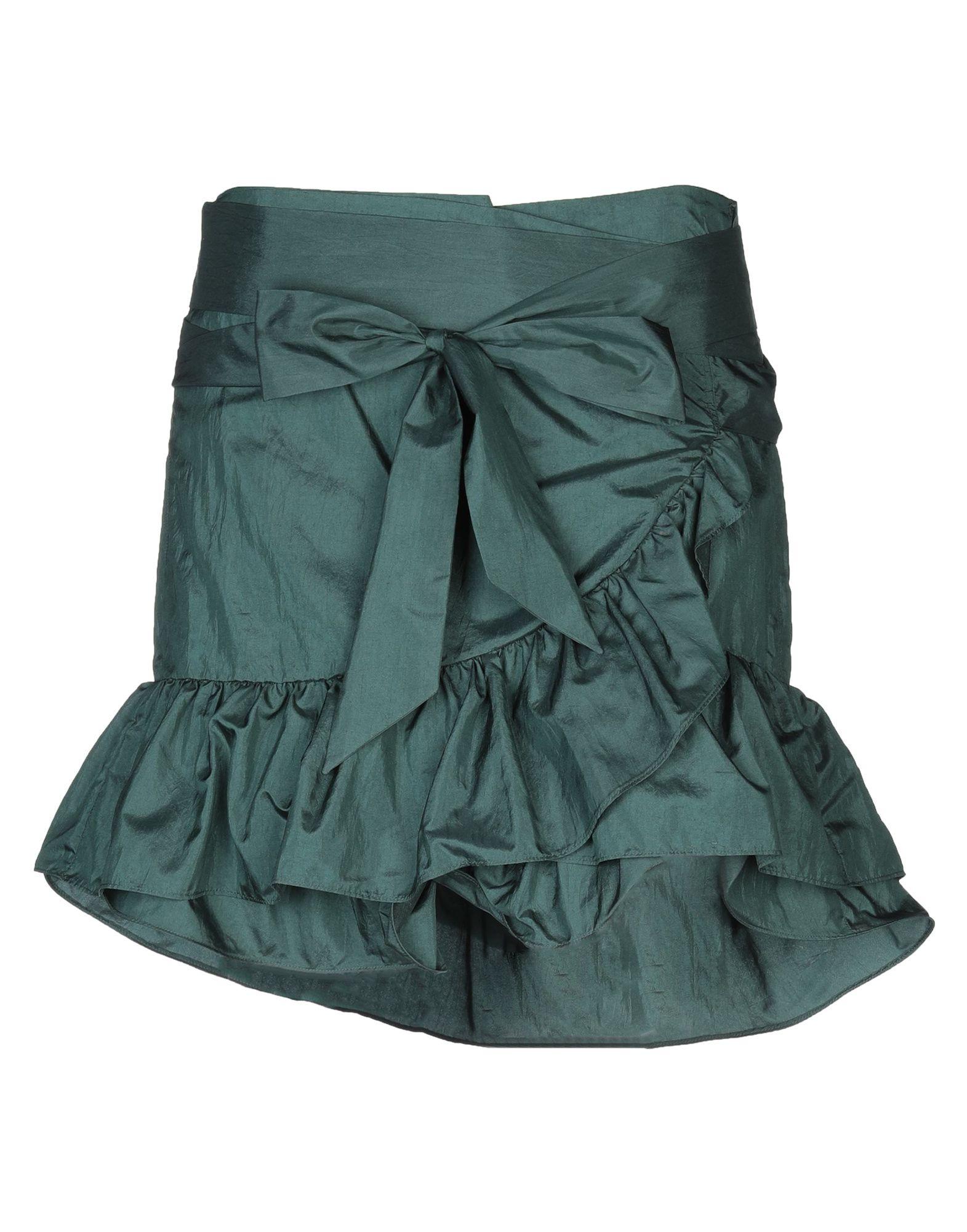 《セール開催中》ISABEL MARANT レディース ひざ丈スカート グリーン 40 ナイロン 64% / シルク 36%