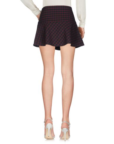 Фото 2 - Мини-юбка красно-коричневого цвета